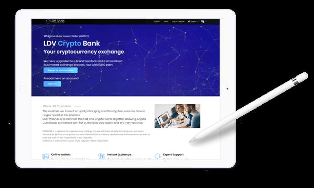 Exchange BTC and ETH with EURO   LDV Crypto Bank
